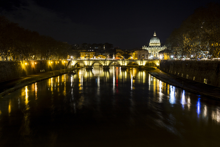 St. Peter from the Tiber river. Stock Photo - 97819377