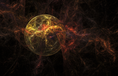 wild fire: Wild fire. Abstract flames on white background. Computer-generated fractal in yellow, red and brown colors.