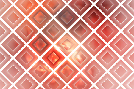 crimson: Abstract glowing checkered grunge background. Fantasy vintage fractal texture in pink, red, grey and white colors. 3D rendering.