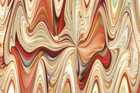 Abstract colorful red, orange, brown and beige curls. Intricate fractal texture. Fantasy design for posters or greeting cards. Digital art. 3D rendering. Stock Photo
