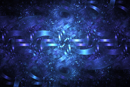 intricate: Blue debris. Abstract monochrome grunge background. Fantasy intricate fractal texture. Digital art. 3D rendering.