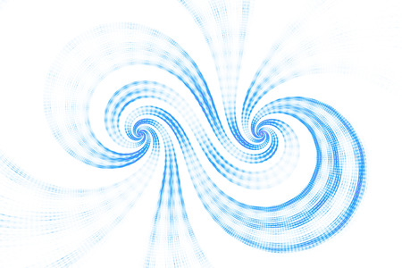 Abstract swirls on white background. Digital artwork in bright blue colors. 3D rendering. Stock Photo