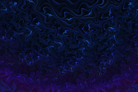 Abstract Glowing Waves On Black Background Fractal Texture In Dark Blue Colors Fantasy Design