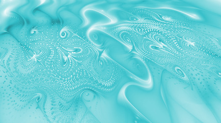 Abstract blue swirls. Psychedelic fractal texture. Digital art. 3D rendering. Stock Photo