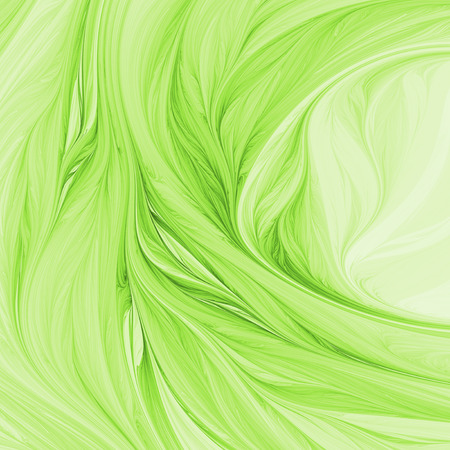 Abstract green swirly background. Fantasy fractal design. Psychedelic digital art. 3D rendering. Stock Photo