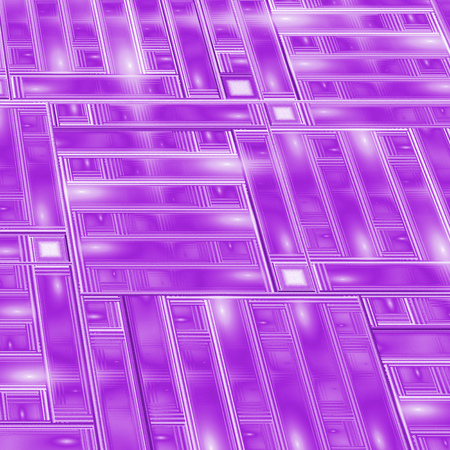metallic stairs: Abstract intricate glossy geometric texture. Fantasy detailed purple fractal background. Digital art. 3D rendering.