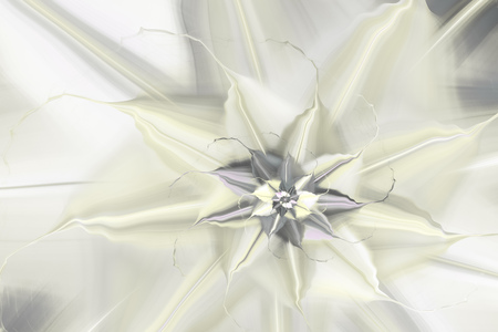 Abstract exotic flower. Close-up view. Fantasy fractal design. Psychedelic digital art. 3D rendering.