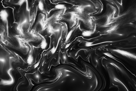 Abstract black and white marble background. Psychedelic fractal texture. Digital art. 3D rendering.