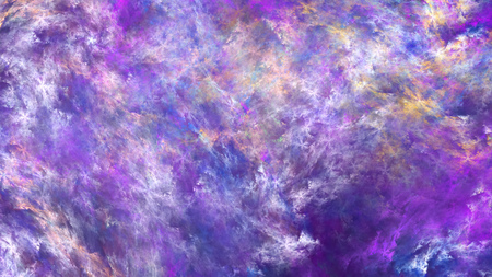 Abstract painted texture. Chaotic violet and yellow strokes. Fractal background. Fantasy digital art. 3D rendering.