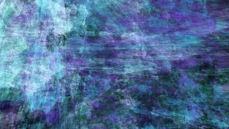 Chaotic blue and violet brush strokes. Abstract grunge texture. Fractal background. 3d rendering.