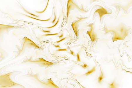 Abstract golden marble texture. Fantasy fractal background. Digital art. 3D rendering.