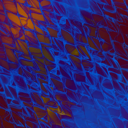 Abstract colorful wavy background. Psychedelic fractal texture. Digital art. 3D rendering.
