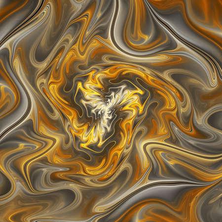 Abstract golden wavy texture. Fantasy fractal background. Digital art. 3D rendering. Standard-Bild - 151130335