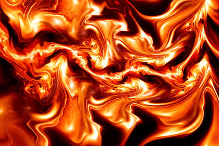Abstract colorful orange wavy texture. Fantasy fractal background. Digital art. 3D rendering. Standard-Bild - 151130516