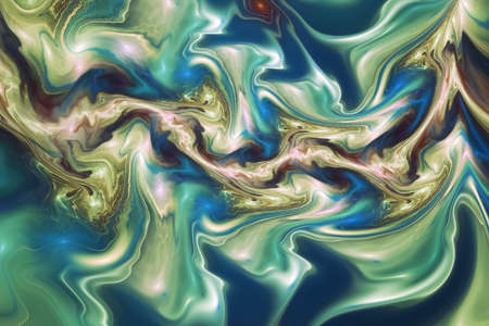 Abstract colorful blue marble texture. Fantasy fractal background. Digital art. 3D rendering.