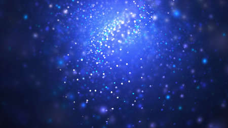 Abstract blue sparkling background. Fractal art. 3d rendering. Archivio Fotografico
