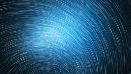 Abstract blue star trails. Shiny holiday background. Digital fractal art. 3d rendering.