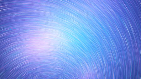 Abstract blue and violet star trails. Shiny holiday background. Digital fractal art. 3d rendering. Imagens