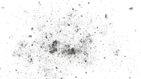 Abstract gray particles. Chaotic fractal background. Digital art. 3D rendering. Archivio Fotografico