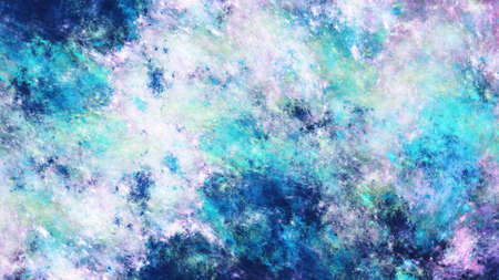 Abstract surreal blue and violet clouds. Expressive colorful texture. Fractal background. Digital art. 3d rendering. 写真素材