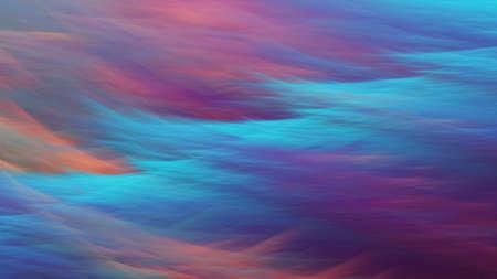 Abstract fantastic landscape in blue and violet colors. Fractal background. 3d rendering.