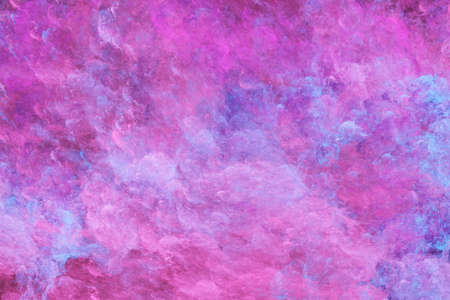 Abstract surreal purple clouds. Expressive colorful texture. Fractal background. Digital art. 3d rendering. Imagens