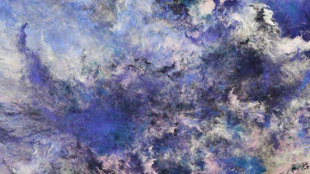 Abstract blue and beige fantastic clouds. Colorful fractal background. Digital art. 3d rendering.