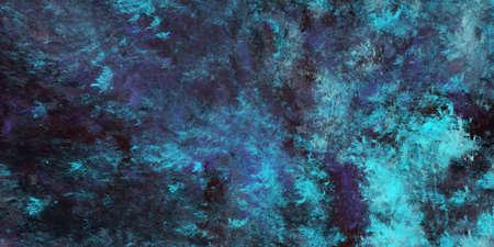 Abstract blue and black fantastic clouds. Colorful fractal background. Digital art. 3d rendering. Standard-Bild