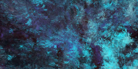 Abstract blue and black fantastic clouds. Colorful fractal background. Digital art. 3d rendering. 写真素材
