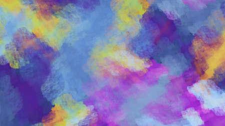 Abstract fantastic blue and violet clouds. Colorful fractal background. Digital art. 3d rendering.