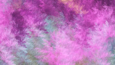 Abstract gray and pink fantastic clouds. Colorful fractal background. Digital art. 3d rendering. Foto de archivo