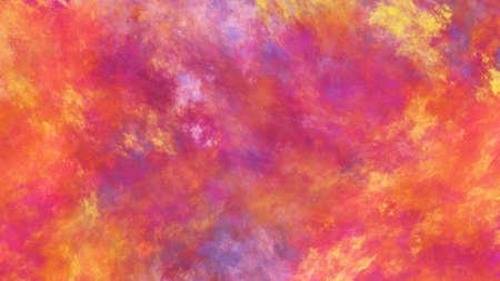 Abstract yellow and red fantastic clouds. Colorful fractal background. Digital art. 3d rendering.