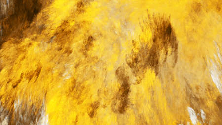 Abstract fantastic golden clouds. Colorful fractal background. Digital art. 3d rendering. 写真素材