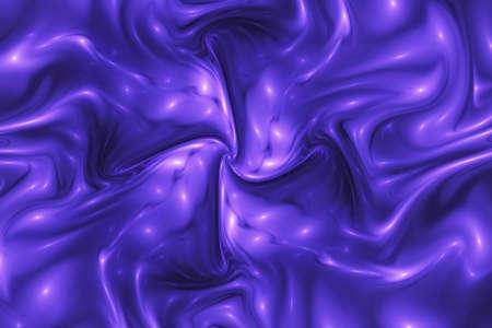 Abstract glossy blue swirl. Fantastic wavy texture. Digital fractal art. 3d rendering.