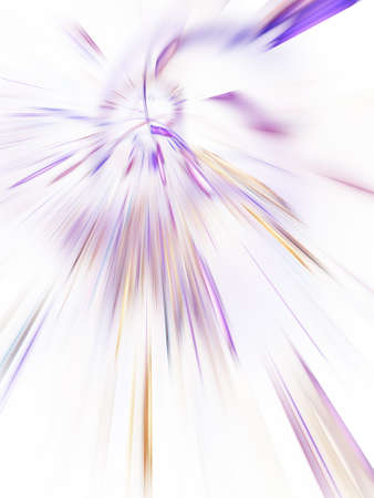 Abstract holiday background with blurred violet rays and sparkles. Fantastic light effect. Digital fractal art. 3d rendering. Standard-Bild