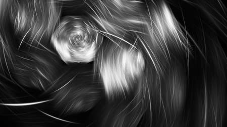 Abstract shiny black and white background. Digital fractal art. 3d rendering.