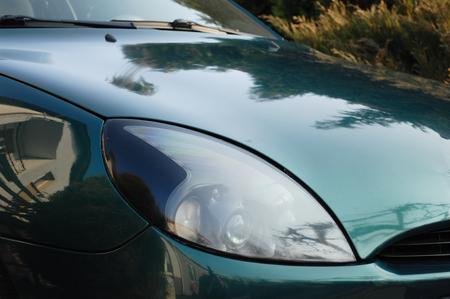 motorcar: Light in sport motorcar Stock Photo