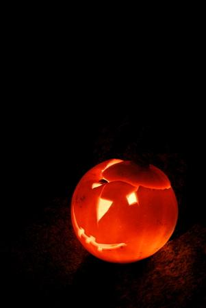 dread: Lantern created with halloween pumpkin