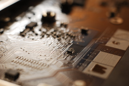 technics: Electronics integrated circuit-  impression background
