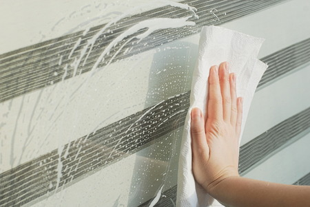 lavage: Glass window cleaning in Spring
