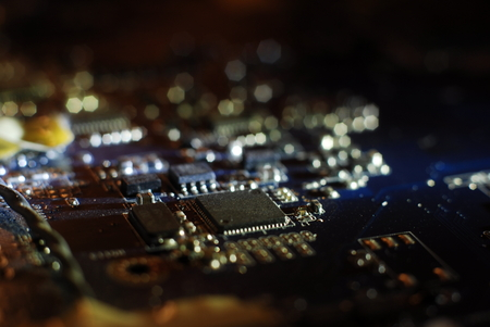 integrated circuit: Electronics integrated circuit-  impression background