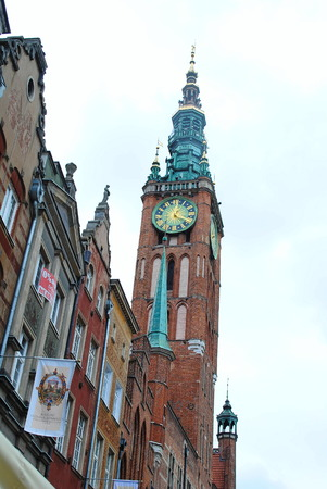 cityhall: Town hall Old Town Gdańsk in Poland Editorial