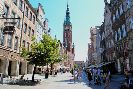 old town guildhall: Town hall Old Town Gdańsk in Poland