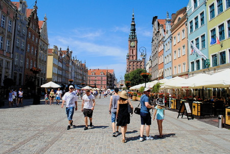 old town guildhall: Town hall Old Town Gdańsk in Poland Editorial