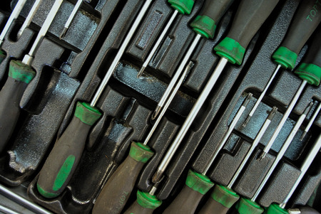 manufactory: Hand Tools in car service Stock Photo