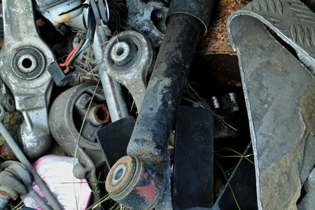 worn out: Old and worn out car parts