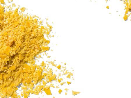 Organic Carnauba Wax, Cosmetic chemical on white background.