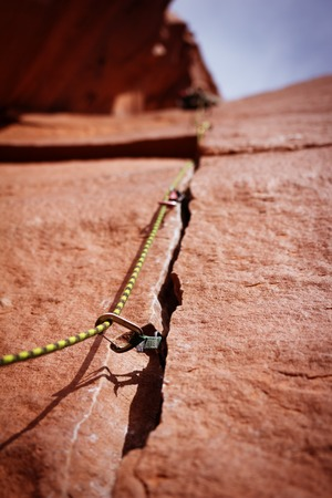 crack climb: Rock climbing gear in Indian Creek Utah