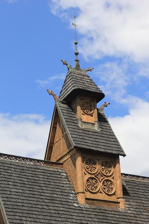 wang: Karpacz iglesia Wang Polonia Foto de archivo