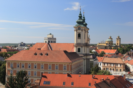 Panorama the medieval town of Eger Hungary photo